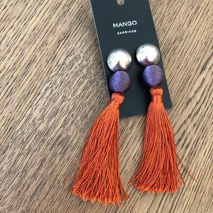 🔥NWT Mango long tassle earrings